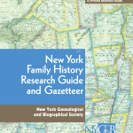 New York Family History Research Guide and Gazetteer book cover, New York Genealogical and Biographical Society
